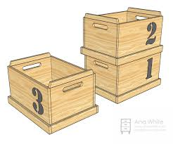 Plans To Build Toy Chest by Ana White Stacking Toy Boxes Diy Projects