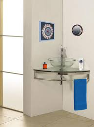 Mount Corner Glass Vanity Modern Bathroom Vanities And Sink - Corner sink bathroom cabinet