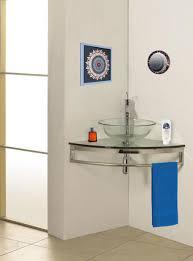 Corner Cabinet Bathroom Vanity by Mount Corner Glass Vanity Modern Bathroom Vanities And Sink