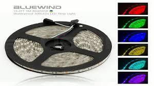 12v Waterproof Led Light Strips by Blue Wind Led Strip Lighting 5m 16 4 Ft 5050 Rgb 300leds
