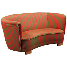 danish 1930s early 1940s banana form loveseat for sale at 1stdibs