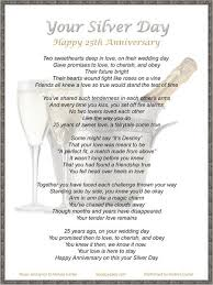25 year anniversary gifts lyric sheet for original 25th anniversary song your silver day