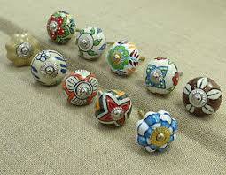 painted ceramic cabinet knobs indian hand painted ceramic drawer knobs lot of 10 pcs cabinet pull