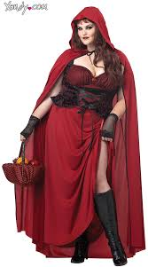 Hooded Halloween Costumes Size Dark Red Riding Hood Costume Size Riding Hood
