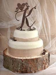 rustic cake topper wood cake topper monogram cake tpper birds