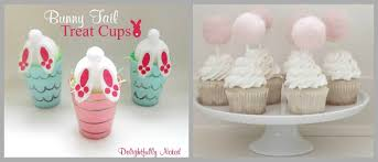 rabbit party supplies bunny tails craft with kids bunny favors