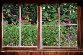 wall mural window self adhesive garden window view 3 sizes zoom