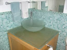 Glass Bathroom Vanity Tops by Endearing Bathroom Design Ideas With Round White Ceramic Vessel