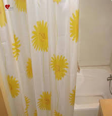 Yellow And White Shower Curtain White Shower Curtain Can Ft In Many Bathroom Decors Best