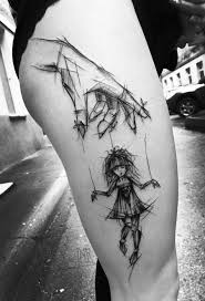 impressive black and white sketch tattoos sketch