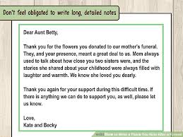 thank you for funeral flowers how to write a thank you note after a funeral 11 steps