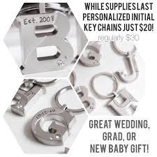 custom keychain initial monogram gift wedding shower