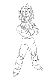 majin vegeta lineart by daresx on deviantart