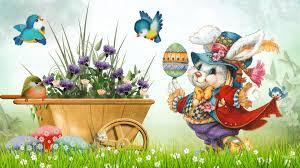 vintage easter baskets flower vintage easter bunny grass birds eggs flowers