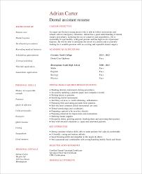 Good Dental Assistant Resume Simple Resume Example 8 Samples In Word Pdf