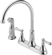 white gooseneck two hole kitchen faucets home depot waterfall