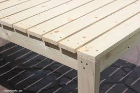 Build Wooden Patio Furniture by How To Build A Patio Dining Table How To Nest For Less
