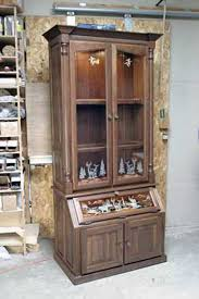 Building A Gun Cabinet Amish Made Custom Gun Cabinets The Wood Loft Amish Custom Made
