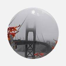 personalized golden gate bridge ornament add family name and