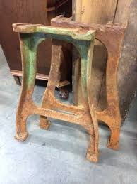 vintage coffee table legs desk vintage industrial french cast iron table legs 949 wrought