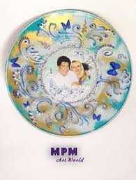 painted wedding plates personalized painted custom personalized wedding plate with by mpmartworld