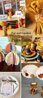 and creative thanksgiving place cards hative