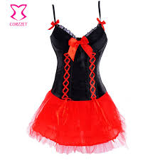 Devil Halloween Costumes Black Red Games Carnival Costumes Women Devil