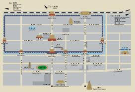 touristic map of xian map xian travel guide to hotels tourist attraction tour