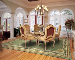 Area Rugs In Dining Rooms Dining Room Luxury Dining Room Design With Green Pattern Dining