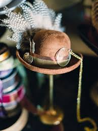 how to set up a hat making station for a steampunk style party diy