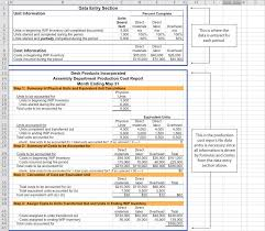 construction cost report template preparing a production cost report