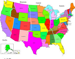 us map time zones with states united states map with state names map of united states of america