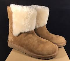 s boots with fur ugg chestnut caitlin sheepskin fur cuff suede slim boots 7