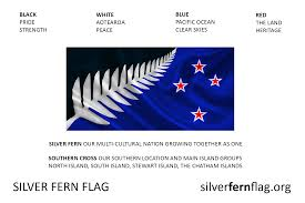 Blue And White Flag Cross Blog Posts Silver Fern Flag