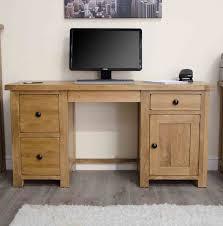 Solid Computer Desk by Tilson Solid Rustic Oak Furniture Large Computer Desk
