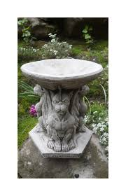 gargoyle bird bath cast garden ornament onefold uk