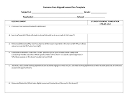 englishlinx com lesson plan template common core templates pdf