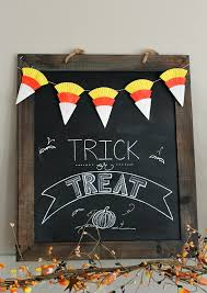 candy corn bunting and halloween chalkboard clean and scentsible