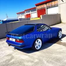 matte blue porsche dark blue metallic matte chrome vinyl wrap car wrap with air