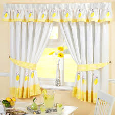attractive yellow and gray kitchen curtains including bedroom