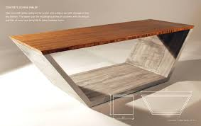 how to clean concrete table top concrete coffee tables houzz throughout table ideas 6