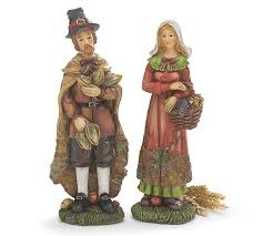 thanksgiving pilgrim figurine set fall