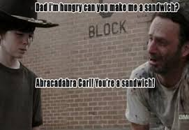 Walking Dead Rick Meme - 18 terrible rick grimes dad jokes funny gallery ebaum s world