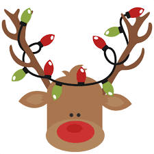 christmas reindeer with christmas lights svg cutting files for scrapbooking cut
