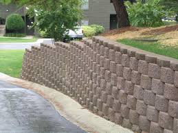 gabion retaining wall stepped back perfect ideas block wall cost