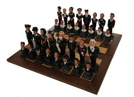 limited edition certified luxury titanic chess set in mahogany