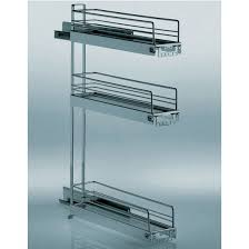 hafele 3 tier kitchen or vanity base cabinet pull out organizer w