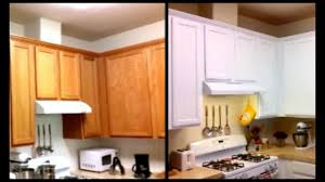 How To Sand Kitchen Cabinets Paint Cabinets White For Less Than 120 Diy Paint Cabinets Youtube