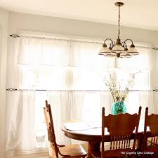 Diy Kitchen Curtain Lovely Cafe Style Curtains And How To Make Kitchen Curtains Diy
