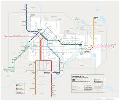 Gold Line Metro Map by Future Transit Map Streets Mn